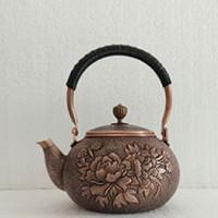 富贵牡丹铜茶具