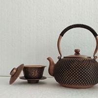 小铜壶铜茶具